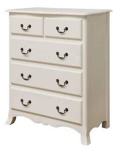 Chateau Off White 3+2 Chest of Drawers